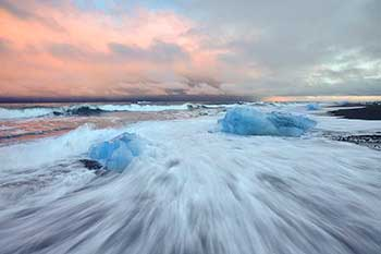 Glacier Ice on Black sand Beach #4