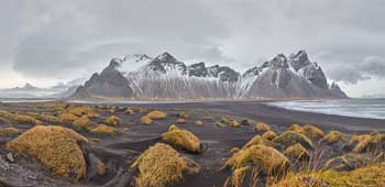 The black sand dunes of Stokksnes, Iceland